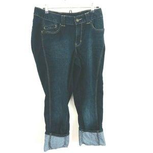 Lane Bryant Perfectly Slim Rolled Cuff Capri Jeans